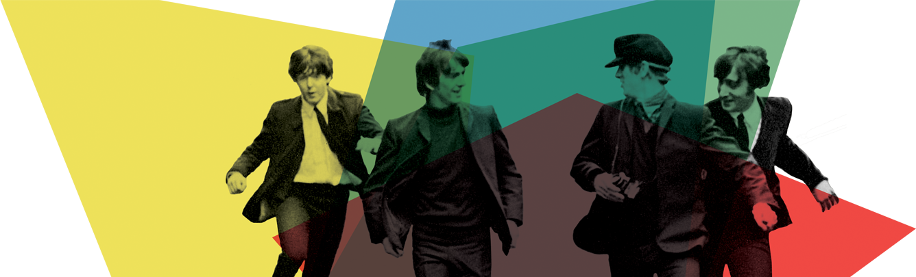 Emirates British Film Festival key art featuring The Beatles